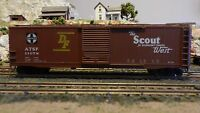 "Accurail HO Santa Fe ""Scout"""" 50'  Boxcar, Upgraded, Exc"