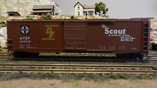 """Accurail Ho Santa Fe """"Scout"""""""" 50' Boxcar, Upgraded, Exc"""