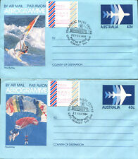 Australien 4 Aerogramme Ganzsachen SST FDC 22 Feb. 1984 Horbart Tasmanien