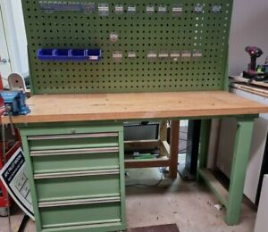 Steel Work Bench with wooden top