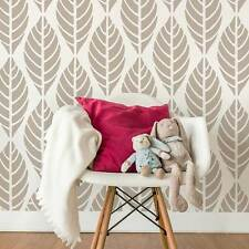 Leaves Allover Stencil Pattern - Tropical Leaves for a Great Accent Wall Decor
