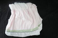 Kidsline Ladybug Pink Green Chenille Shiny Baby Nursery Crib Skirt Dust Ruffle