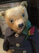 ANTIQUE TOY MOHAIR TEDDY BEAR-CHILTERN  CIRCA 1920-30.