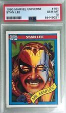 1990 Impel Marvel Universe Series 1 #161 Stan Lee Mr. Marvel PSA 10 Gem Mint