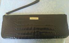 "NWOT M Siamo Purse Black Leather ""Crocodile"" Excellent Condition"