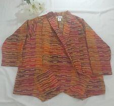 Maggie Sweet Aztec Jacket Coat Women's Size 3XL XXXL Lagen  Open Front