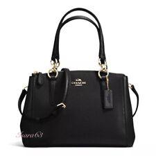 NWT Coach F57523 Mini Christie Carryall In Crossgrain Leather Black W Gift Box