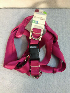 """Good To Go Reflective Dog Harness Hot Pink 22""""-38"""" L XL New"""