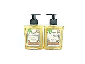 A brand new A LA MAISON liquid hand soap pure coconut scent 10oz 2 pack