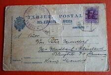Spain / Spanish Protectorate Morocco 1948 Postcard from Kar -20 cts. overprinted