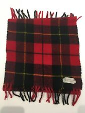 Red Tartan Unisex Pure Lambswool Neck Scarf unbranded casual warm winter used