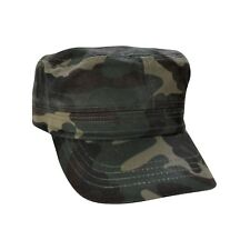 Camouflage Cadet Hat 100% Cotton Military Style Cap Adjustable
