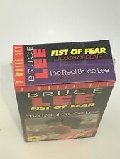 BRUCE LEE 2 MOVIE SET FIST OF FEAR....Touch Of Death & THE REAL BRUCE LEE VHS