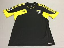 COLUMBUS CREW MLS SOCCER BLACK AUTHENTIC ADIDAS JERSEY CLIMACOOL MENS LARGE