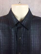 Johnston & Murphy Slim Fit Pearl Snap Long Sleeve Shirt NWOT Geometric Sz Small