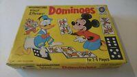 Waddingtons Walt Disney Dominoes Double Sided 2x 28 Pieces Complete 70s Vintage