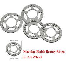 4pcs 2.2 Beadlock Wheel rims set silver for Axial Wraith AX90018 RC Crawler car