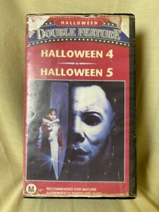 Halloween Double Feature Horror Vintage VHS
