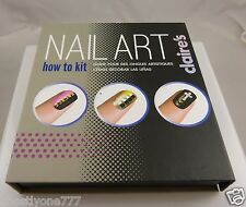 nail art how to kit faux nails glue tweezers glitter pot studs skull crosses