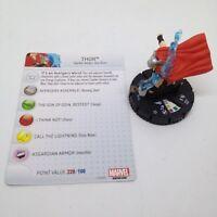 Heroclix Avengers Assemble set Thor #053a Super Rare figure w/card!