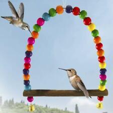 Humming Bird Swing Perch Outdoor Porch Patio Garden Wooden Dowel Gift New