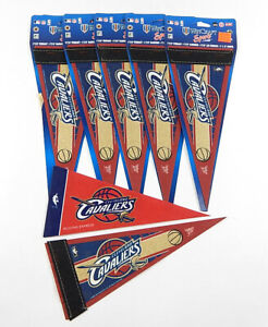 Lot of (7) Wincraft Cleveland Cavaliers Mini Size Pennants Official NBA