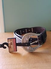 Bit and Bridle Womans Faux Hair on bling Western belt size Large