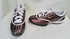 Nike Air Zoom Gem Women's Metallic Brown/ White Golf Shoes Size 6.5 EUC