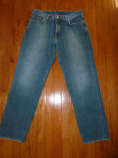 WOW! Lucky Brand DAD Jeans 33Wx30 Well Worn USA Soft Distressed Zipper Fly