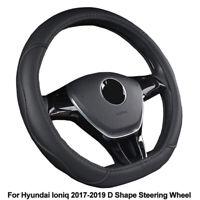 D Type Car Steering Wheel Cover Fit for Hyundai Ioniq 2017 2018 2019 D Shape