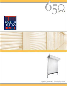 Roll Up Door JANUS Model 650 sizes 3x7 to 10x10 available