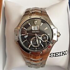 EXCELLENT SEIKO COUTURA KINETIC 7D48-0AB0 PERPETUAL CALENDAR DAY DATE WATCH