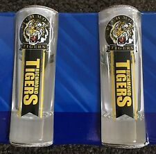AFL Richmond Tigers 2pc Shot Glass Set New Australian Football VFL Bar Drinks