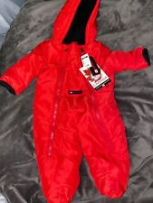 Canada Weathergear baby boy 3-6 month red snowsuit with zippers and pocket