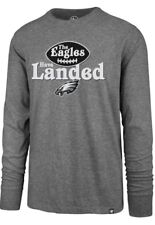 Philadelphia Eagles THE EAGLES HAVE LANDED '47 Long Sleeve T-Shirt Gray SMALL