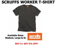 Scruffs Worker T-Shirt T Shirt Work Top Graphite S M L XL Scruffs NEW 2019 RANGE