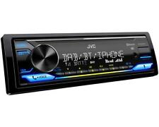 JVC DAB+ Autoradio inkl. Klebeantenne Bluetooth USB AUX ohne CD variable Farben