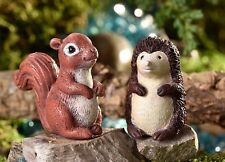 Miniature Fairy Garden Hedgehog & Squirrel Glow in the Dark Set 2 Asst GI 700362