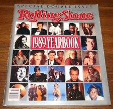 ROLLING STONE MAGAZINE DECEMBER 1989 YEARBOOK MADONNA GUNS STONES WHO U2 GARCIA