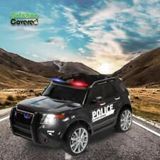 New Ride ON CAR Police COP CAR SUV Black Jeep 12v Electric Police Vehicle