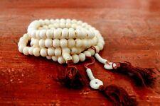 YAK BONE Prayer Beads Necklace ! Tibetan Buddhist Mala shaman Rosary 108