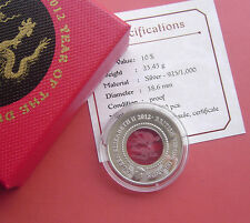 British Virgin Islands 2012 Year of the Dragon 10 Dollars Silver Proof Coin