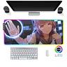LED Gaming Mauspad Anime Manga Girl RGB XXL Groß Mausunterlage PC Mat Mousepad