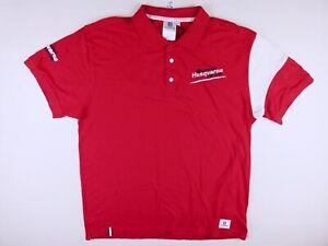 P654 HUSQVARNA Racing Team polo shirt size XXL fits L/XL, new w/ tag!