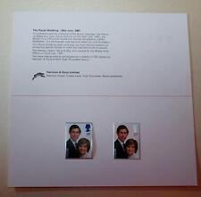 GB 1981 Boda Real Harrison presentación Pack Sellos Mint SG1160-1161 #2109+