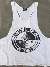 Gold's Gym Original Vintage Thrashed Worn Down Used Stained TShirt Aged Ctn
