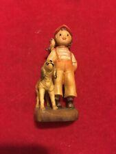 Vintage Anri Ferrandiz 3� Boy With Dog And Bird Figurine. Excellent Condition