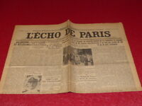 [ Press WW2 Front Guerre] L'Echo de Paris #20538 10 January 1936