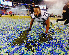 MICHAEL BENNETT  SEATTLE SEAHAWKS  SUPER BOWL CELEBRATION   ACTION SIGNED 8x10