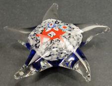"""Starfish Paperweight Art Glass Murano-like 5"""""""